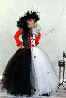 Cruella De Vil Inspired Tutu Dress