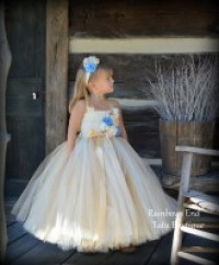 Vintage Charm - Gold and Ivory Tutu Dress